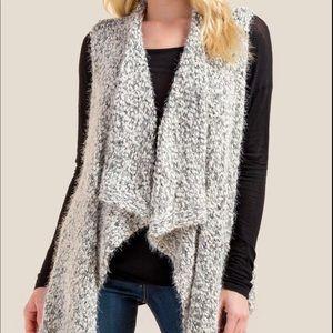 NWT Francesca's Talulla Drape Front Sweater Vest